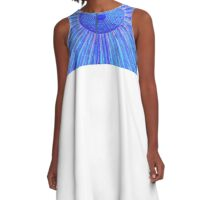 blue zen A-Line Dress