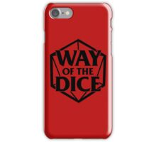 Way of the Dice Emblem iPhone Case/Skin