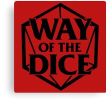 Way of the Dice Emblem Canvas Print