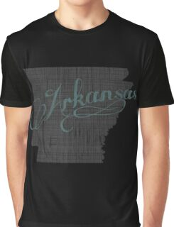 Arkansas State Typography Graphic T-Shirt