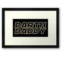 Darth Daddy Framed Print