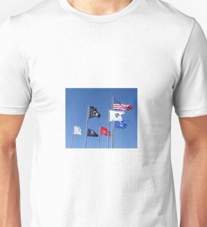 U.S. Flag, POW/MIA Flag, Armed Forces Flags Unisex T-Shirt