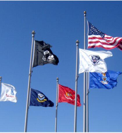 U.S. Flag, POW/MIA Flag, Armed Forces Flags Sticker