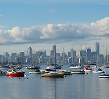 Melbourne City Skyline by Sharon Brown