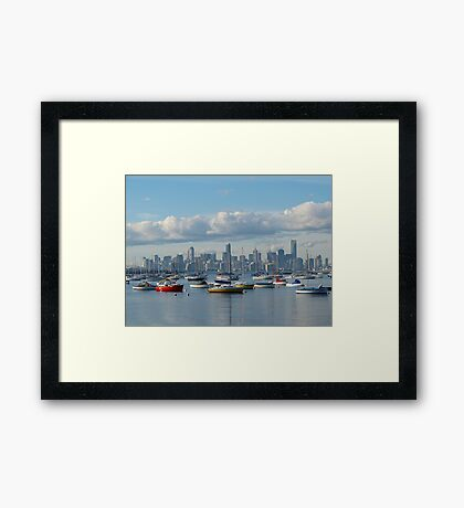 Melbourne City Skyline Framed Print