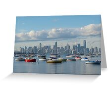 Melbourne City Skyline Greeting Card