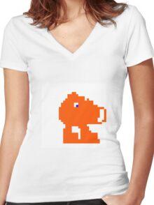 Q-Bert Women's Fitted V-Neck T-Shirt