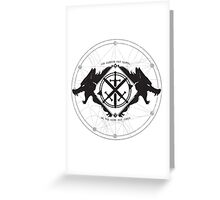 Strength of the Wolf [Black/White] Greeting Card