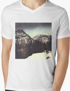 End of Winter in the mountains Mens V-Neck T-Shirt