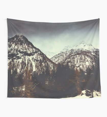 End of Winter in the mountains Wall Tapestry