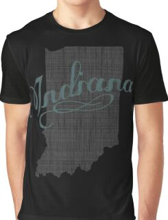 Indiana State Typography Graphic T-Shirt