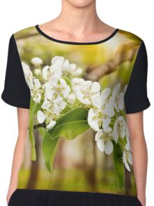 Nice Pear Tree Flowers Chiffon Top