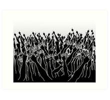 Raise your hands up  Art Print