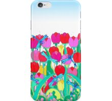 Dragon Flies and Tulips iPhone Case/Skin