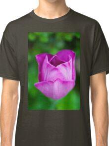 Purple on Green Classic T-Shirt