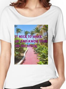 Happy to be on Vacation Women's Relaxed Fit T-Shirt