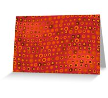 Red Orange and Brown Dots Texture Greeting Card