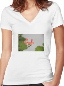 Geraniums (Pelargonium) #1 Women's Fitted V-Neck T-Shirt