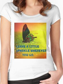 Leave a little Sparkle Women's Fitted Scoop T-Shirt