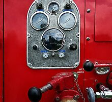 Gauges on Vintage Fire Truck  by Susan Savad