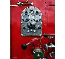 Gauges on Vintage Fire Truck  Photographic Print