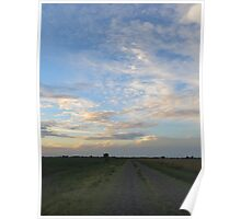 Country Road Skyline Poster