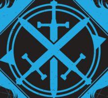 Strength of the Wolf [Cyan / Black] Sticker