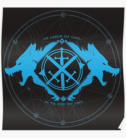 Strength of the Wolf [Cyan / Black] Poster