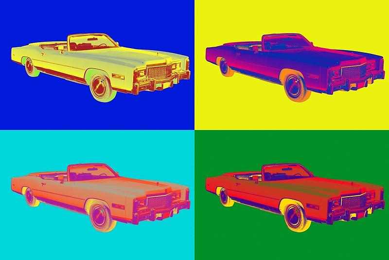 1975 Cadillac El Dorado Convertible Pop Art by KWJphotoart