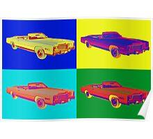 1975 Cadillac El Dorado Convertible Pop Art Poster