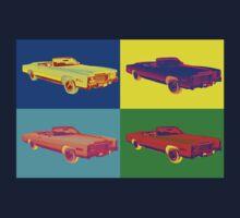1975 Cadillac El Dorado Convertible Pop Art One Piece - Short Sleeve