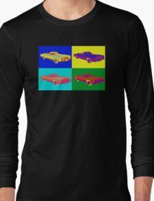 1975 Cadillac El Dorado Convertible Pop Art Long Sleeve T-Shirt