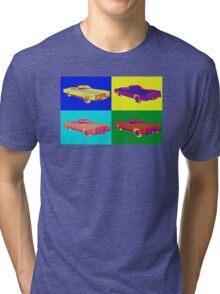 1975 Cadillac El Dorado Convertible Pop Art Tri-blend T-Shirt