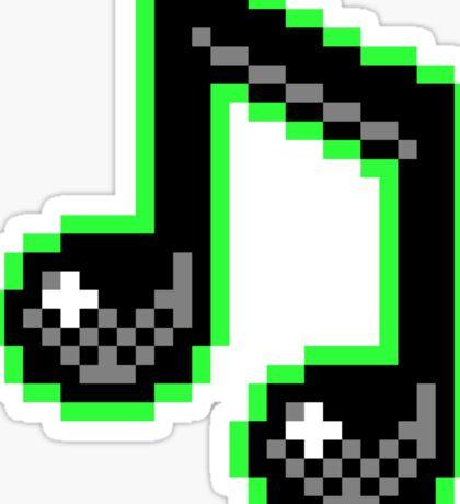 Music Note - Pixels Sticker