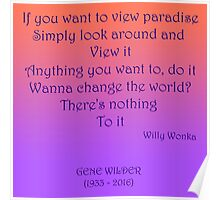If you want to view paradise - Gene Wilder Poster