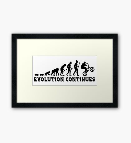 BMX Evolution Continues Framed Print