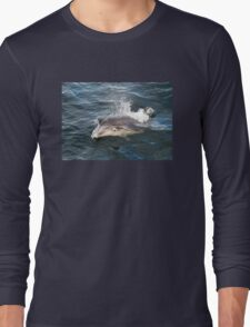 Bottlenose dolphin bow riding Long Sleeve T-Shirt