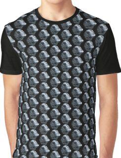 Death Star Pattern Graphic T-Shirt