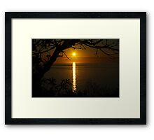 Sunset over Port Phillip Bay Framed Print