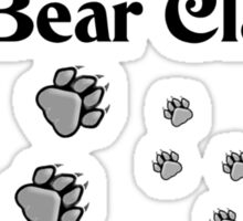 Right to Bear Claws - Black & White    Sticker