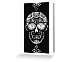 All Hallows Skull - White Greeting Card