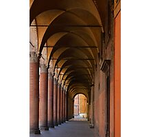 Red portico in Bologna Photographic Print