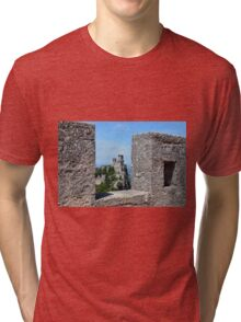 San Marino landscape with tower. Tri-blend T-Shirt