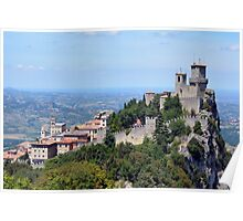 San Marino landscape with tower. Poster
