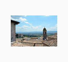 Roof tops and landscape from Assisi. Unisex T-Shirt