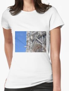 Detail of basilica from Siena with decorations. Womens Fitted T-Shirt