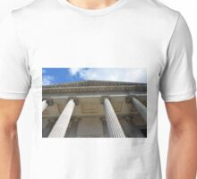 Ionic temple with columns in Genova. Unisex T-Shirt