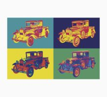 Colorful 1930 Model A Ford Pickup Truck Pop Art Kids Tee