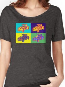 Colorful 1930 Model A Ford Pickup Truck Pop Art Women's Relaxed Fit T-Shirt