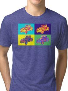 Colorful 1930 Model A Ford Pickup Truck Pop Art Tri-blend T-Shirt